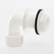 Overflow Bend Tank Connector White 21.5mm