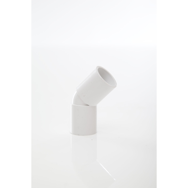 Overflow Pipe Bend 45 White 21.5mm