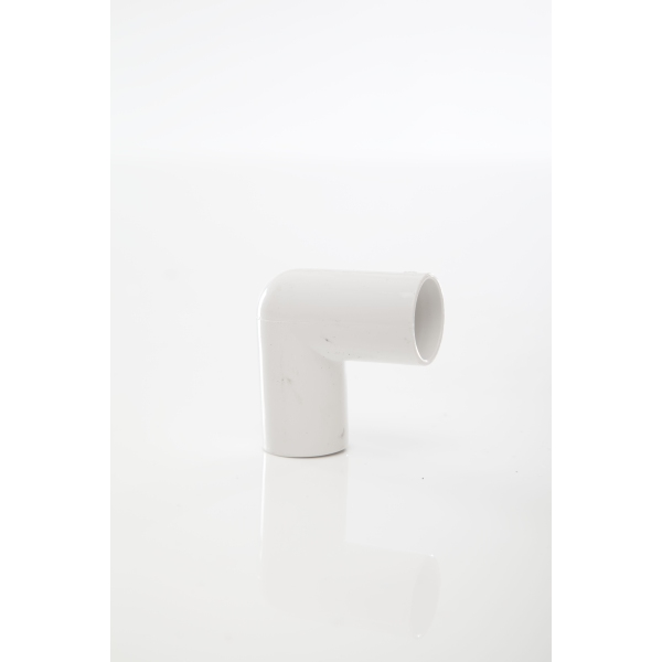 Overflow Pipe Knuckle Bend 90 White 21.5mm