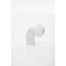 Overflow Straight Bent Adaptor White 21.5mm