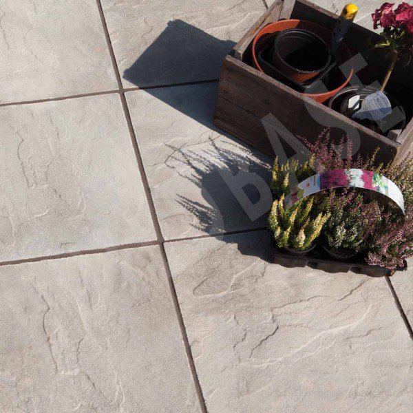 Peak Riven Paving Grey 600x600
