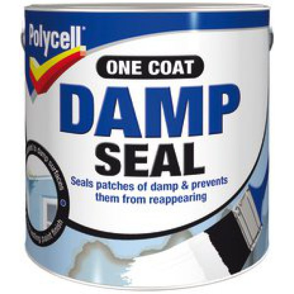 Polycell damp seal 1l - Damp proofing paint for exterior walls ...