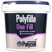 Polycell Trade Polyfilla 1-Fill L/W 1ltr Tub