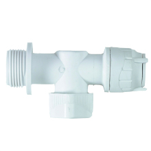 "Polyfit Appliance Valve Warm/Cold 15mm x 3/4"" White"
