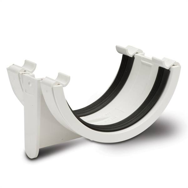 Half Round Gutter Union Bracket White 112mm