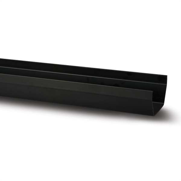 Polypipe 112mm x 4m Square Gutter Black