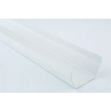 Polypipe 112mm x 4m Square Gutter White