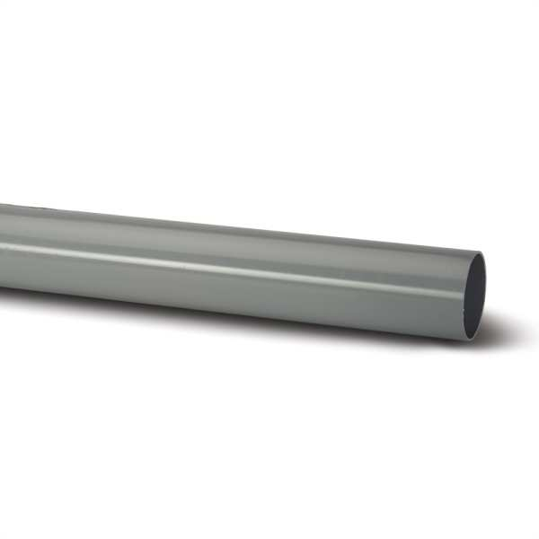 Polypipe 2.5m x 68mm Round Downpipe Grey