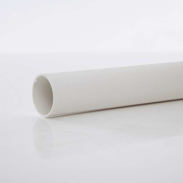 POLYPIPE 3MTRX50MM SOLVENT WPIPE   WHITE
