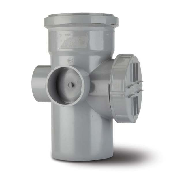 Polypipe 4 Branch Soil Access Pipe Single Socket 110mm Grey