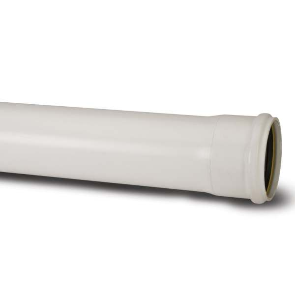 "Polypipe 4"" Soil 3m Single Socket SP430W"