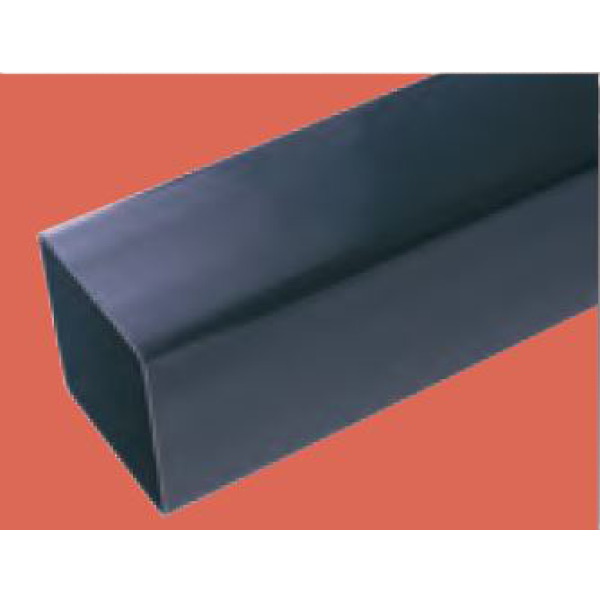 Polypipe 65mm x 2.5m Square Downpipe Black