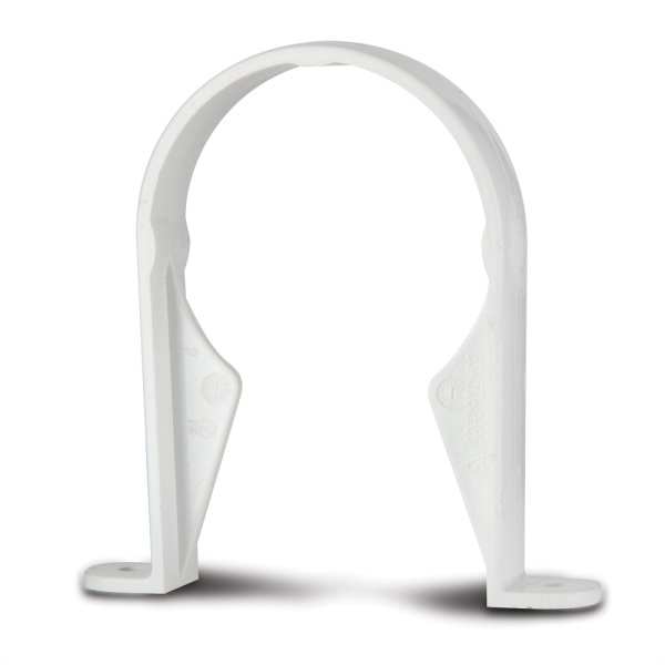 Round Downpipe Bracket White 68mm