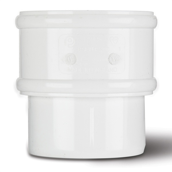 Round Downpipe Connector White 68mm
