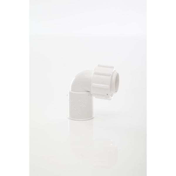 Polypipe ABS Overflow Bent Adaptor 21.5mm White