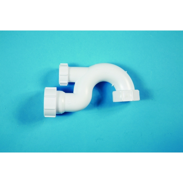 Polypipe Bath Trap 32mm x 20mm seal White