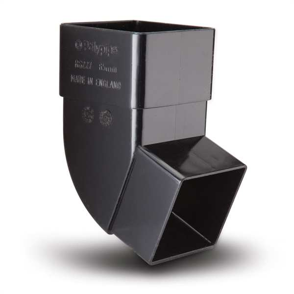 Polypipe Black Square Offset Bend 112 Degree