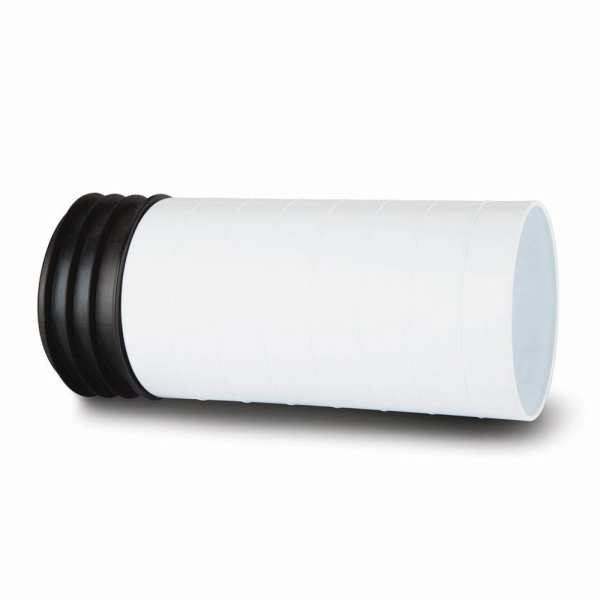 Polypipe Kwickfit Pan Connector Extension Piece 110mm White