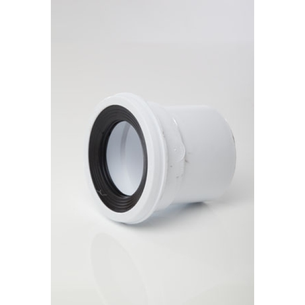 Polypipe Pan Connector Straight 110mm White