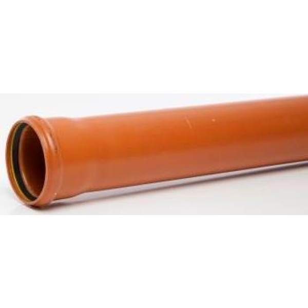 Polypipe Pipe UG462 110mm Single Socket 6m