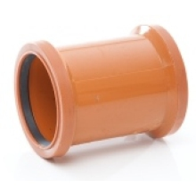 Polypipe PVC Double Socket Coupler UG601 160mm