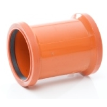 Polypipe PVC Double Socket Coupler