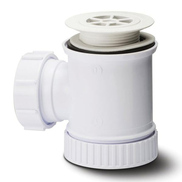 Polypipe Shower Trap and Removable Grid 40mm x 19mm White