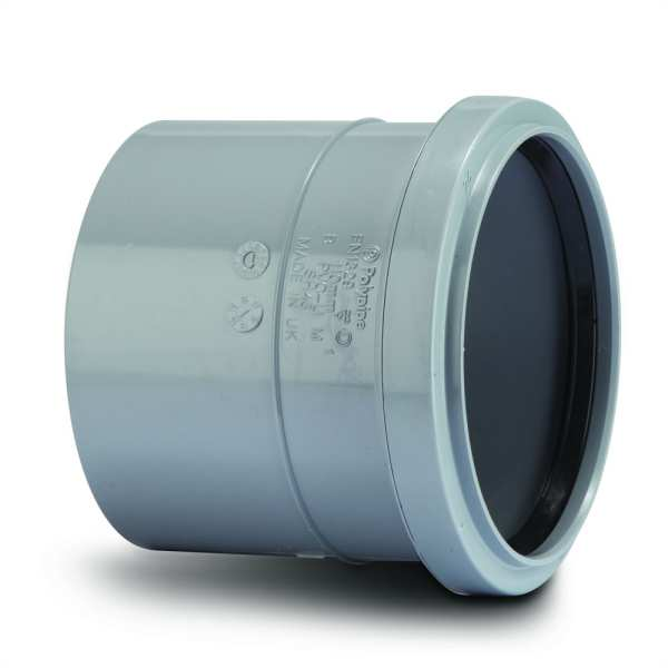 Polypipe Single Socket Soil 110mm Grey
