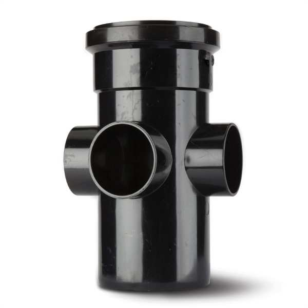 Polypipe Soil Boss Pipe 110mm Black