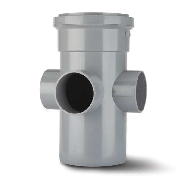 Polypipe Soil Boss Pipe 110mm Grey