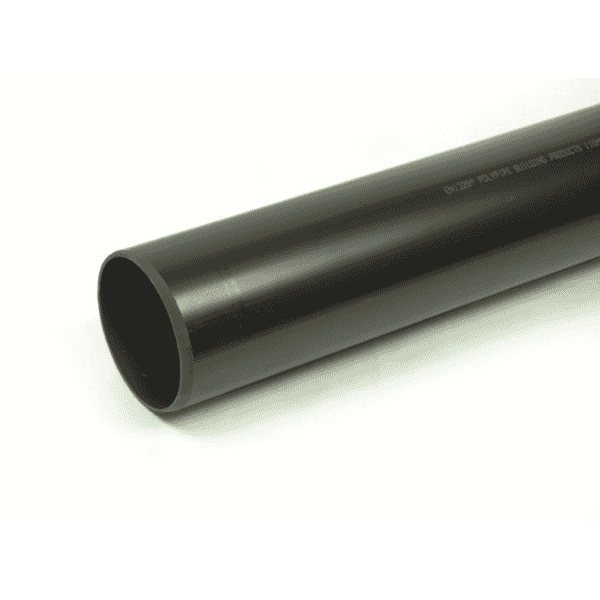 Polypipe Soil Pipe P/E 110mm x 3 Metres Grey