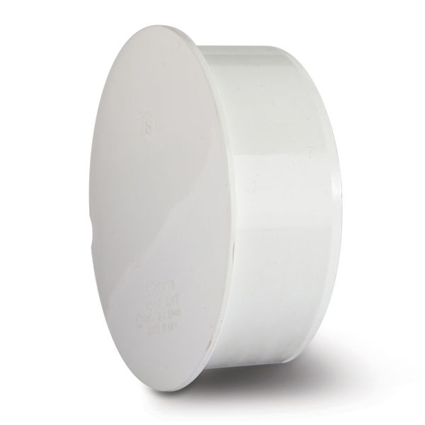 Polypipe Soil Socket Plug 110mm White