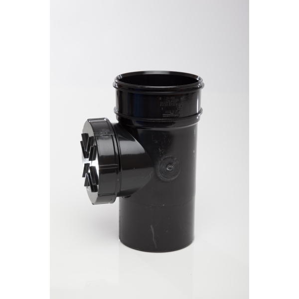 Polypipe Solvent Access Pipe Single Socket 110mm Black