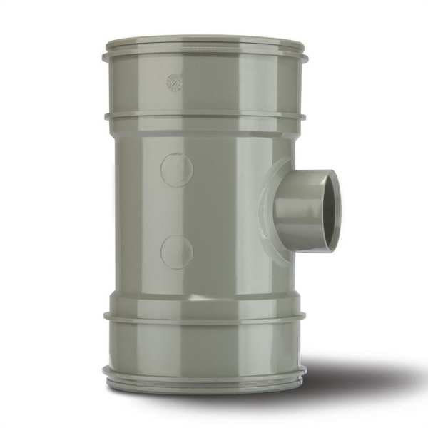 Polypipe Solvent Boss Pipe Double Socket 110mm x 40mm Grey