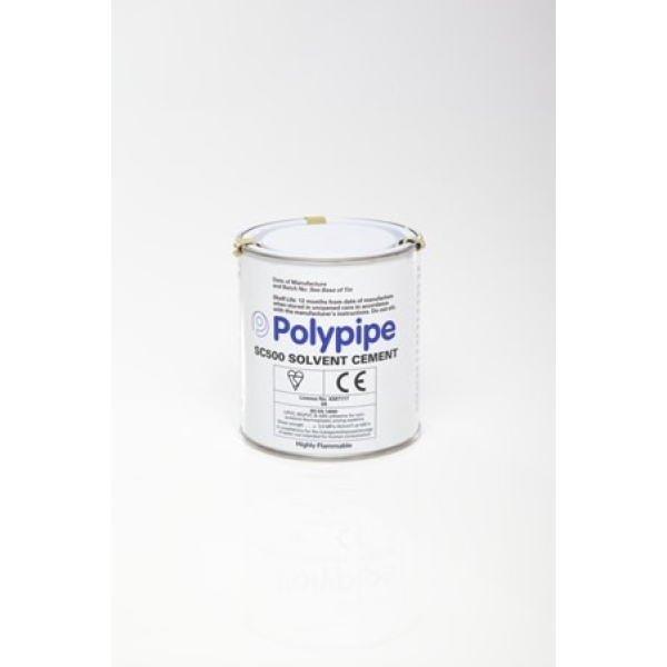 Polypipe Solvent Cement and Brush 500ml
