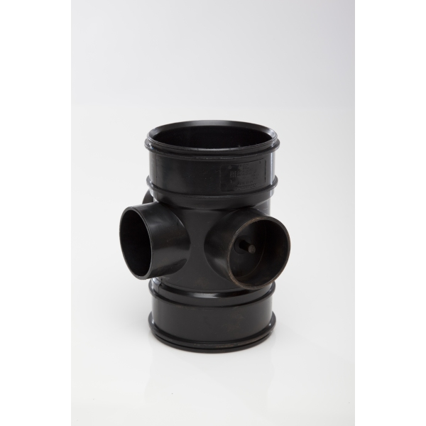 Polypipe Solvent Soil 3 Way Boss Pipe 110mm Black