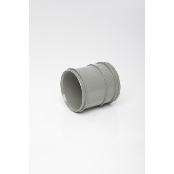 Polypipe Solvent Soil Pipe Coupling Double Socket 82mm Grey