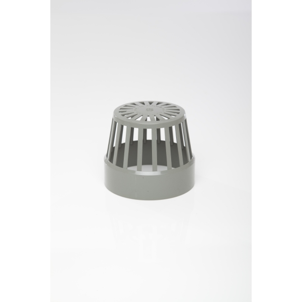 Polypipe Solvent Soil Vent Terminal 110mm Grey