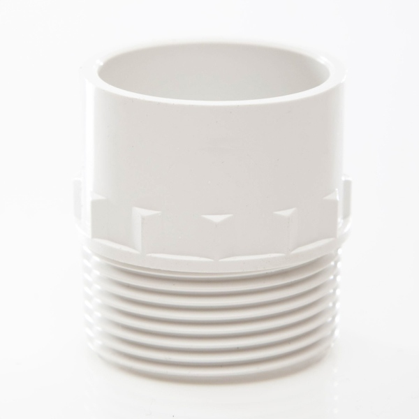 Polypipe Solvent Waste Adaptor Male Iron 32mm ABS White