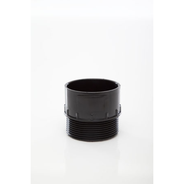 Polypipe Solvent Waste Adaptor Male Iron 50mm ABS Black