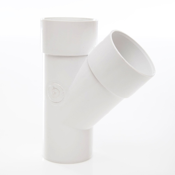 Polypipe Solvent Waste Junction 50mm x 45 Degrees ABS White