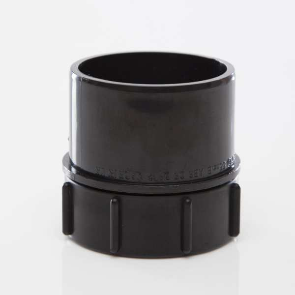 Polypipe Solvent Waste Screwed Access Plug 50mm ABS Black