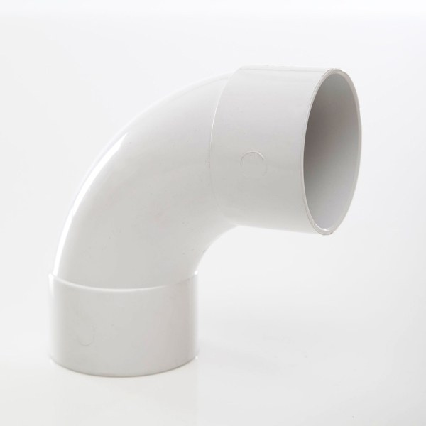 Polypipe Solvent Waste Swept Bend 50mm x 92.5 Degrees ABS White