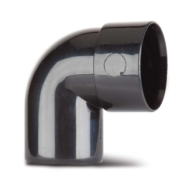 Polypipe Solvent Waste Swivel Bend 40mm x 92.5 Degrees ABS Black