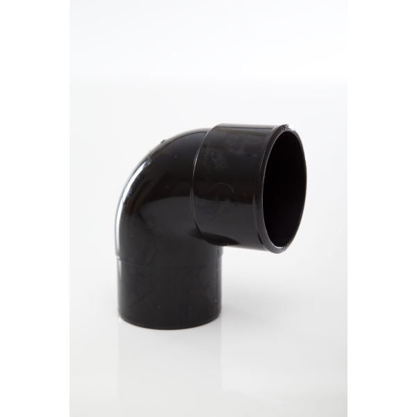 POLYPIPE Solvent Waste Swivel Bend 50mm x 92.5 Degrees ABS Black