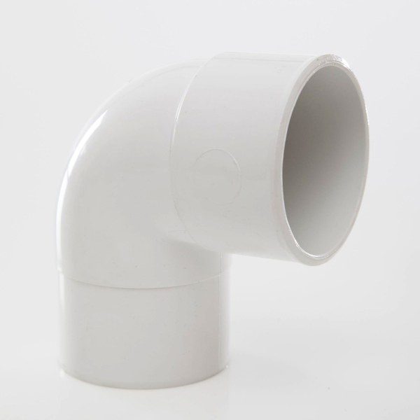 Polypipe Solvent Waste Swivel Elbow Bend 50mm x 92 Degress ABS White