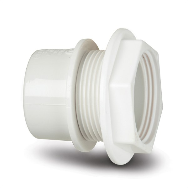 Polypipe Solvent Waste Tank Connector 40mm ABS White