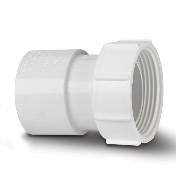 Polypipe Solvent Waste Threaded Coupling Female 40mm ABS White