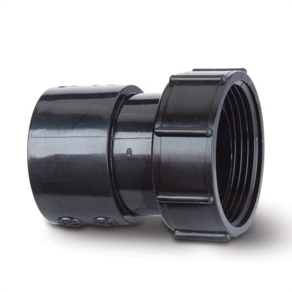 Polypipe Solvent Waste Threaded Coupling 32mm ABS Black