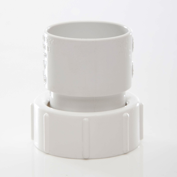 Polypipe Solvent WasteThreaded Coupling Female 32mm ABS White